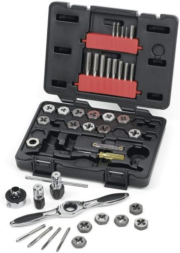 GEARWRENCH 40 Piece Metric Ratcheting Tap and Die Set