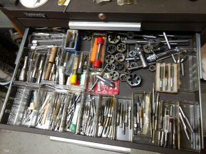 My Drawer Full of Miscellaneous Taps Dies and Wrenches