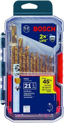 Bosch TI21A Titanium Drill Bit Set (21 Piece)