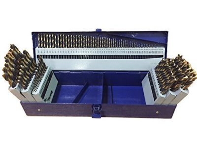 Drill America 115 Piece HSS Black and Gold Finish Drill Bit Set