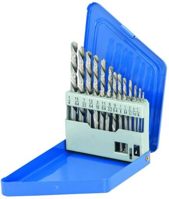 DRILL MASTER 13 Piece Left-Hand Drill Bit Set HSS Double Flute