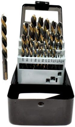 VCT 29 Piece, Left Hand Industrial Black & Gold Drill Bit Set